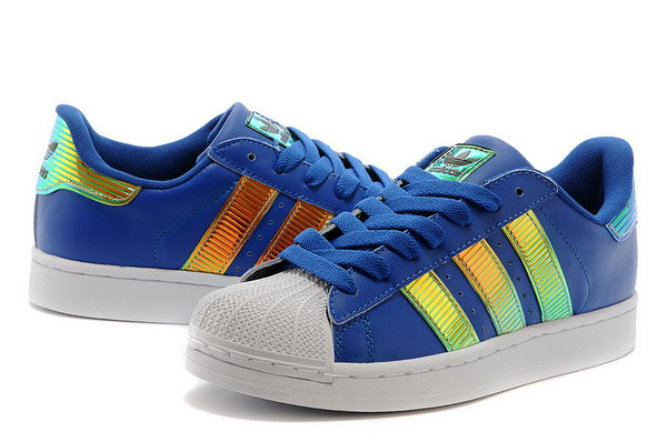 Adidas Superstar Mens & Womens (unisex) Gradient Blue Gold Reduced